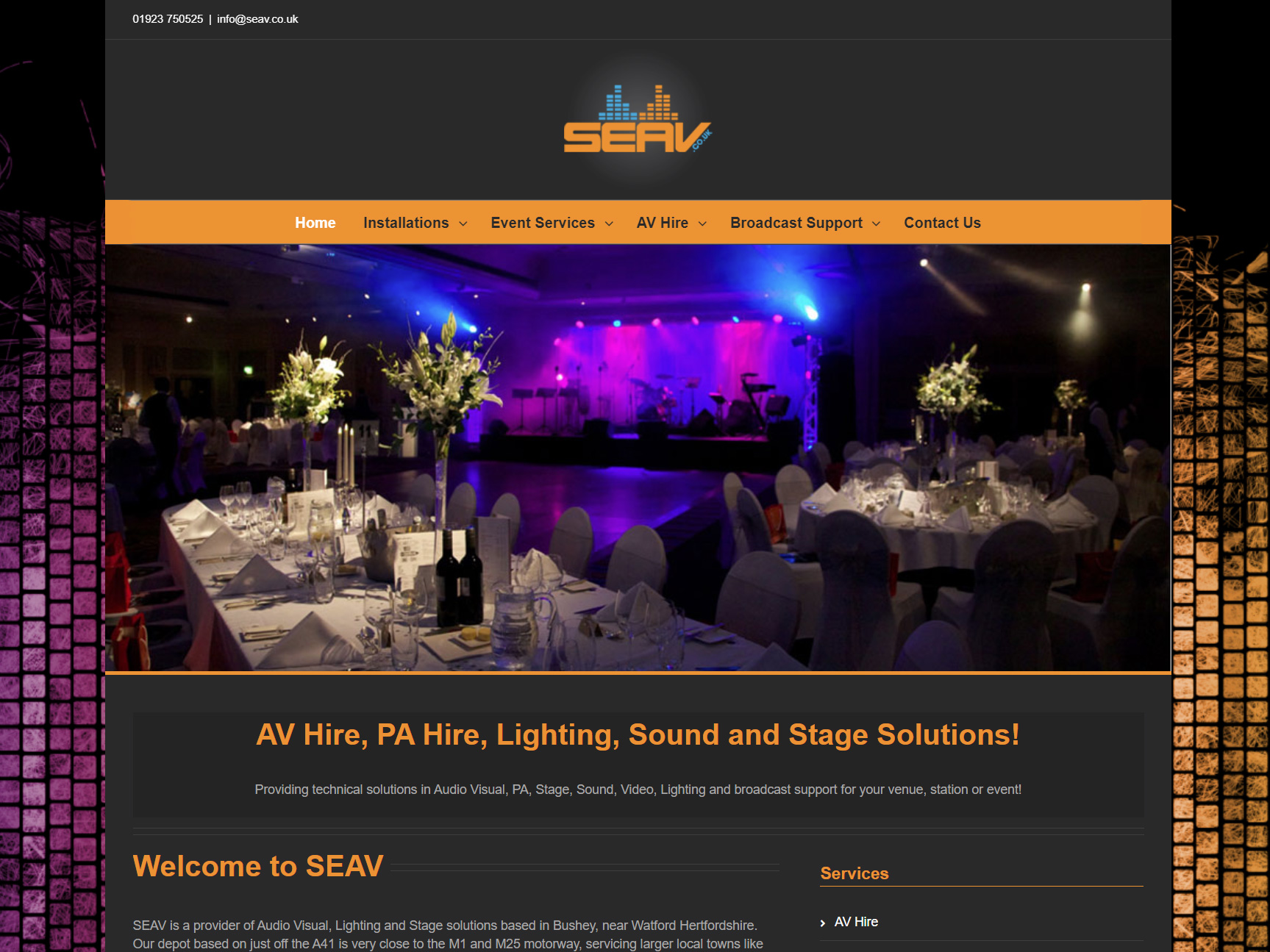 av-hire-website-design