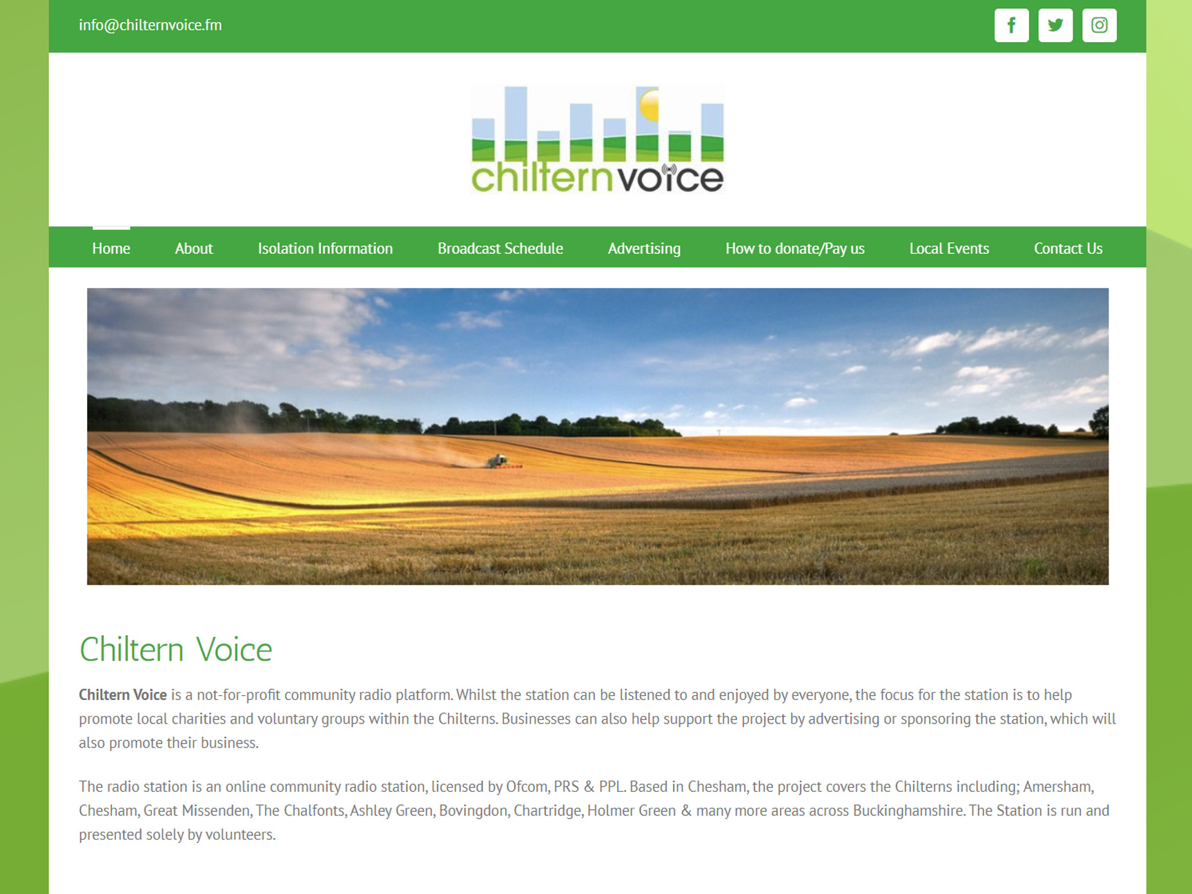 chiltern-voice-radio-website-design