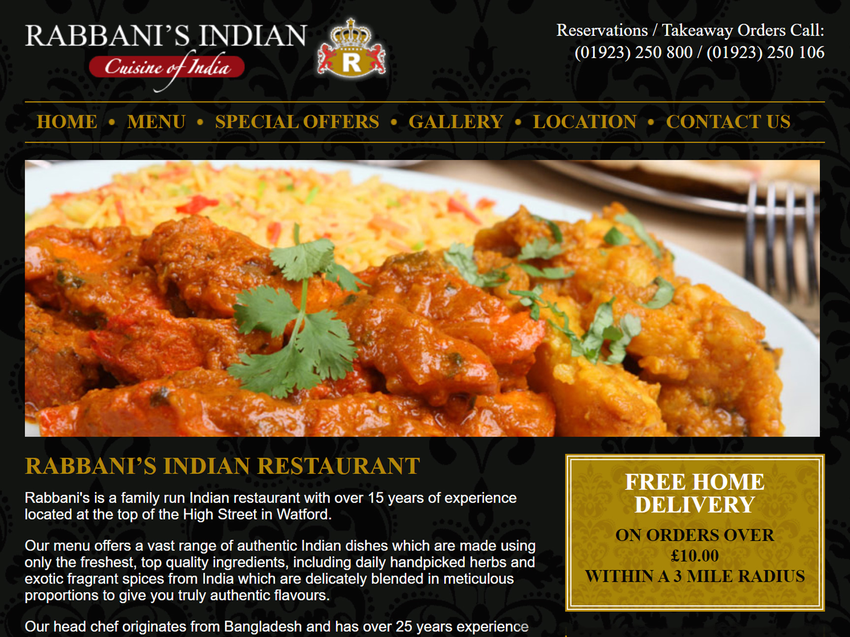 rabbanis-indian-restaurant-website-design